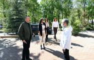 President Aliyev gets acquainted with conditions created in Kharibulbul hotel -  PHOTOS