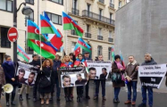 Protest action held in Paris to release Azerbaijani hostages