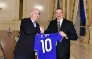 Ilham Aliyev receives FIFA president and secretary general