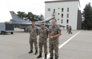 Representatives of Georgian Air Force watch