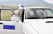 OSCE to monitor contact line of Azerbaijani, Armenian troops