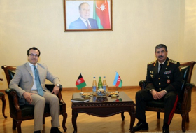 Azerbaijani Defense Minister meets with Ambassador of Afghanistan