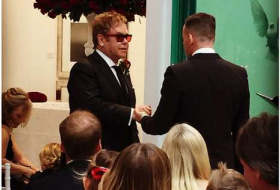 Elton John And David Furnish Marry In England