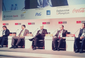 EY Azerbaijan Managing Partner Ilgar Veliyev makes presentation at Azerbaijan Investment Summit