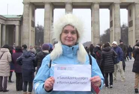 Germany says `SaveAzeHostages` - V?DEO & PHOTOS
