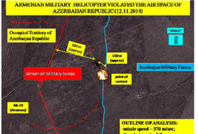 Azerbaijan reveals flight path of downed Armenia helicopter (INFOGRAPHICS)