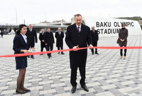 President Ilham Aliyev, his spouse attend opening of Baku Olympic Stadium - PHOTOS
