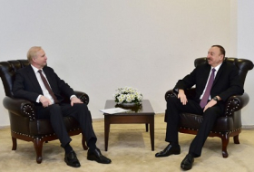 President Ilham Aliyev meets BP chief executive officer in Kars