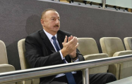 Ilham Aliyev watching Azerbaijan-Germany volleyball match