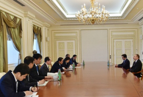 Azerbaijani president receives delegation led by Japanese Deputy PM