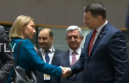 Federica Mogherini does not greet Armenian President - VIDEO